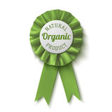 Natuurlijk, biologisch product Realistisch, groen etiket Royalty-vrije Stock Foto's