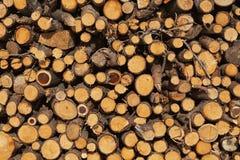 Natuurlijk bruin hout voor brand royalty-vrije stock foto's