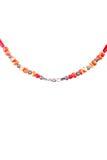 Natuurlijk Coral Necklace-deel Royalty-vrije Stock Afbeelding