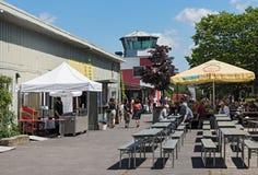 Natuurlijk en recreatief gronden Oud vliegveld in Frankfurt-Bonames stock foto's