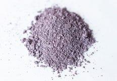 Natuurlijk gekleurd pigmentpoeder dicht omhoog, matte pastelkleursering eyesh stock foto's