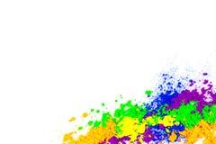 Natuurlijk gekleurd pigmentpoeder royalty-vrije stock afbeeldingen