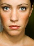 Natuurlijk gezicht van vrouw Stock Afbeeldingen