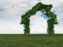 Natuurlijk groen huis Royalty-vrije Stock Afbeeldingen