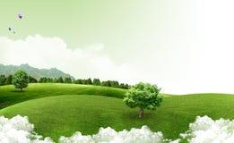 Natuurlijk landschap. ecologisch concept Royalty-vrije Stock Foto's