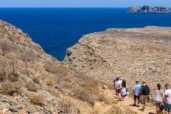 Natuurlijk landschap van het eiland Imeri Gramvousa Royalty-vrije Stock Fotografie