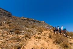 Natuurlijk landschap van het eiland Imeri Gramvousa Stock Afbeeldingen