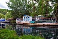 Natuurlijk landschap van Ohrid, Macedonië Royalty-vrije Stock Afbeeldingen