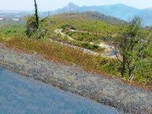 Natuurlijk mooi landschap van rotsachtige berg royalty-vrije stock afbeelding