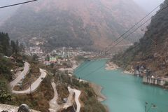 Natuurlijk noordoosten zeven zuster India van schoonheidsgangtok Sikkim Stock Foto