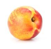 Natuurlijk perzikfruit dat op wit wordt geïsoleerd royalty-vrije stock fotografie