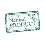 Natuurlijk product rubberzegel Royalty-vrije Stock Foto