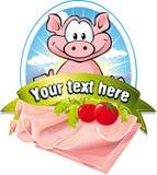 Natuurlijk vleesetiket Stock Foto