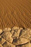 Natuurlijk zandpatroon in de Vlakke Duinen van Mesquite, Californië Stock Afbeeldingen