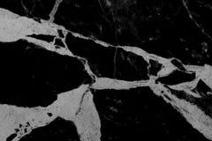 natuurlijke achter en witte marmeren textuur voor patroon en achtergrond Royalty-vrije Stock Afbeelding