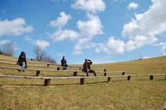 Natuurlijke amphitheatre royalty-vrije stock afbeelding