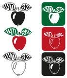 Natuurlijke appel Stock Afbeelding