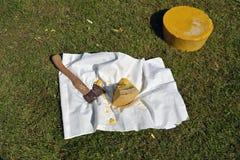 Natuurlijke bijenwas op middeleeuws festival Stock Afbeeldingen