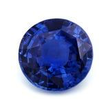 Natuurlijke Blauwe Saffier Royalty-vrije Stock Foto's