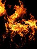 Natuurlijke brand dichtbij Baku, Azerbeidzjan Stock Foto