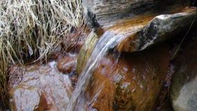 Natuurlijke bron van mineraal curatief water stock video
