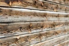 Natuurlijke bruine schuur houten muur Houten geweven patroon als achtergrond royalty-vrije stock foto