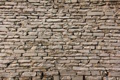 Natuurlijke de muurachtergrond en textuur van de grunge bruine steen Royalty-vrije Stock Afbeelding