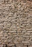 Natuurlijke de muurachtergrond en textuur van de grunge bruine steen Royalty-vrije Stock Afbeeldingen