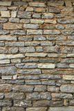 Natuurlijke de muurachtergrond en textuur van de grunge bruine steen Stock Foto's
