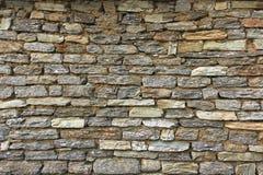 Natuurlijke de muurachtergrond en textuur van de grunge bruine steen Royalty-vrije Stock Fotografie