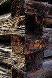 Natuurlijke details van in de zon gedroogd hout Stock Fotografie