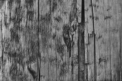 Natuurlijke Doorstane Grey Tan Taupe Wooden Board, Gebarsten Geruïneerde Ruwe Besnoeiingssepia Houten Textuur, Groot Gedetailleer Royalty-vrije Stock Afbeelding