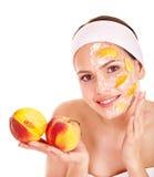 Natuurlijke eigengemaakte fruit gezichtsmaskers. Stock Foto's