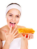 Natuurlijke eigengemaakte organische gezichtsmaskers van honing. Royalty-vrije Stock Afbeeldingen