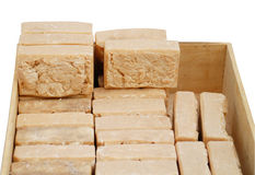 Natuurlijke eigengemaakte zeep Stock Fotografie