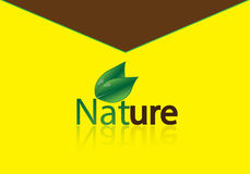 Natuurlijke envelop Stock Afbeeldingen