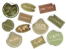 Natuurlijke Etiketten Stock Foto