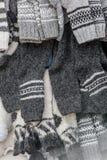 Natuurlijke gebreide sokken royalty-vrije stock fotografie