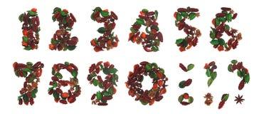 Natuurlijke getallen Stock Foto's