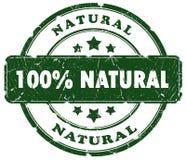 Natuurlijke grungezegel Royalty-vrije Stock Foto