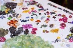 Natuurlijke halfedelstenen en andere mineralen Royalty-vrije Stock Afbeeldingen