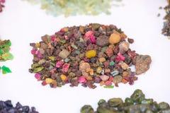 Natuurlijke halfedelstenen en andere mineralen Royalty-vrije Stock Fotografie