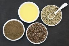 Natuurlijke Hennepproducten stock afbeelding