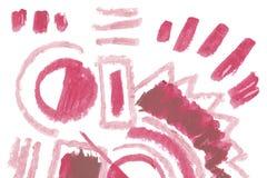 Natuurlijke het ontwerpelementen van de pommadekunst van lippenstift Stock Afbeeldingen