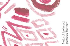 Natuurlijke het ontwerpelementen van de pommadekunst van lippenstift Royalty-vrije Stock Fotografie