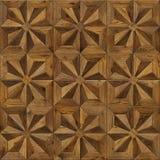Natuurlijke houten achtergrond acht-gerichte ster, grunge het ontwerp naadloze textuur van de parketbevloering voor 3d binnenland Royalty-vrije Stock Fotografie