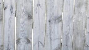 Natuurlijke houten omheining in de winter stock video