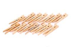 Natuurlijke houten wasknijpers Royalty-vrije Stock Foto