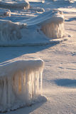Natuurlijke ijsbeeldhouwwerken Royalty-vrije Stock Foto's