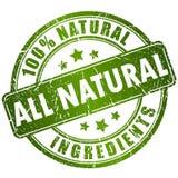 Natuurlijke ingrediëntenzegel Royalty-vrije Stock Foto's